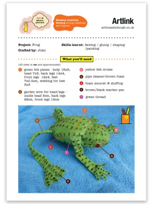 Crafting with Joan - Frog