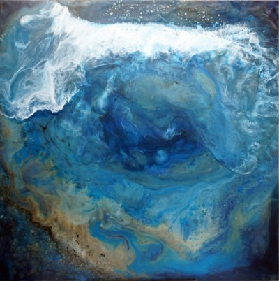 Fathomless - Original Encaustic Art