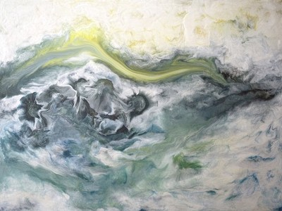 Frozen in Time - Original Encaustic Art