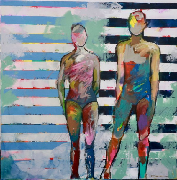 Juntos pero (Together but) - Canvas Wall Art