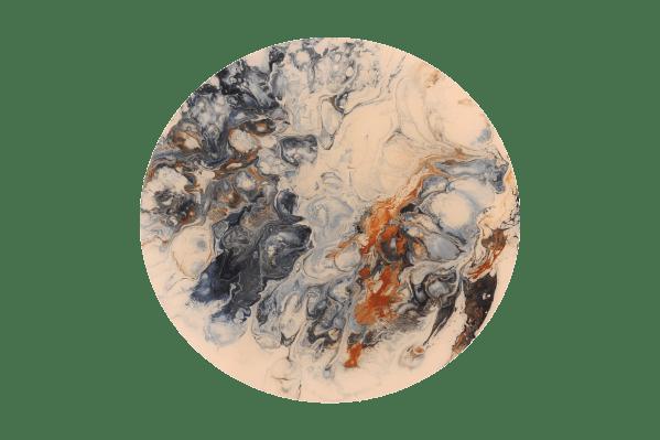 Blues II - Acrylic paint pour art