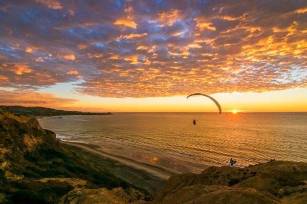 Idyllic La Jolla Glider Port Sunset - Fine Art
