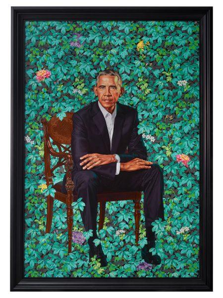 Portrait rendition of former President Barack Obama by Black artist Kehinde Wiley