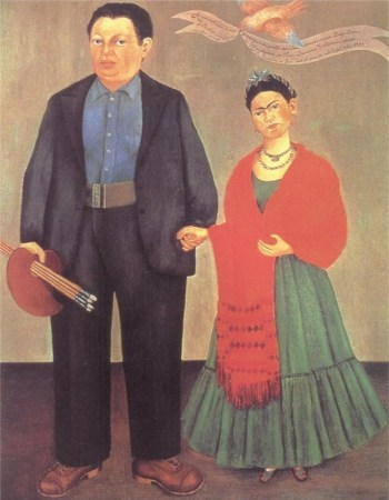 Diego Rivera and Frida Khalo painting