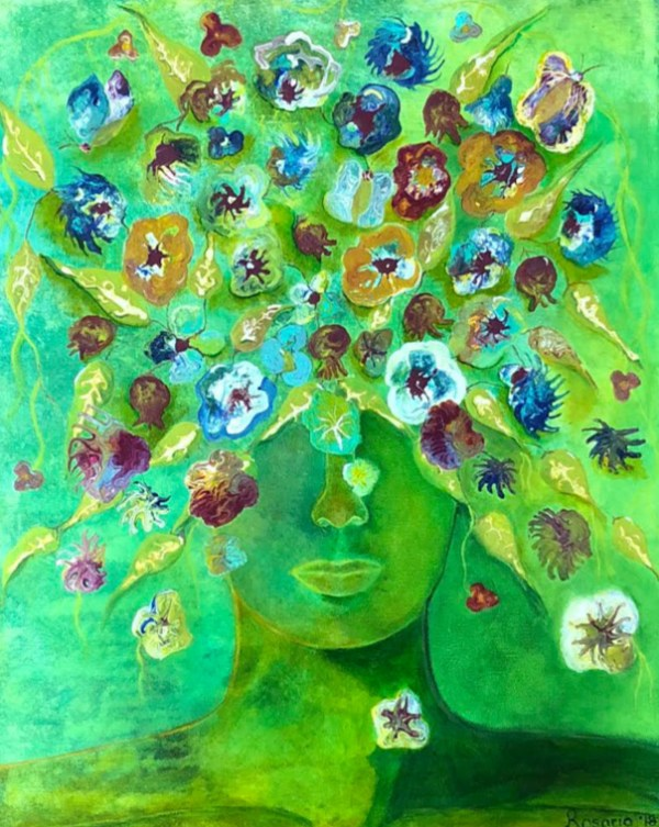 Blooming Thoughts - Mixed Media on Canvas