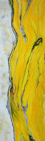 Fine art painting demonstrating color psychology with its powerful yellow paint.
