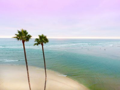 Fine Art Aerial Photography of Del Mar California's Dog Beach by Kerry Stitt