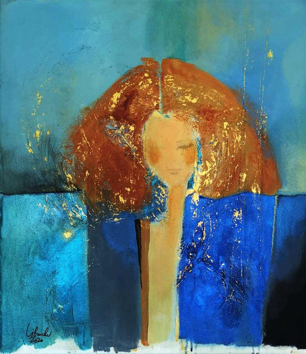 Mystery Woman fine art painting by Libuse Wiesendanger