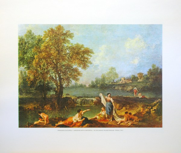 FRANCESCO ZUCCARELLI - LANDSCAPE WITH A WATERFALL (LITHOGRAPH)