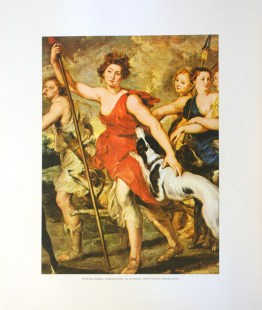 PETER PAUL RUBENS - HUNTING DIANA (LITHOGRAPH)