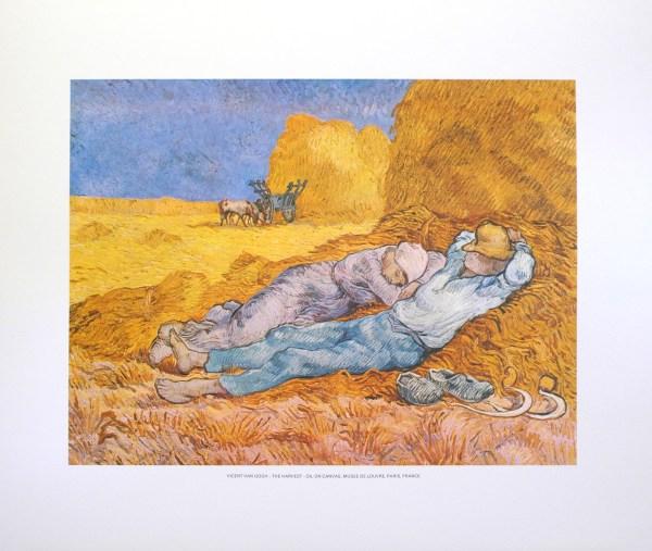 VAN GOGH - THE HARVEST (LITHOGRAPH)