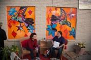 Melissa Glasser's mural on Circle Deli