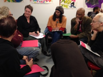 Gateway Arts District community members come together for a Creative Placemaking brainstorming session at local arts organization Art Works Now