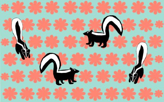 skunksamongtheflowers