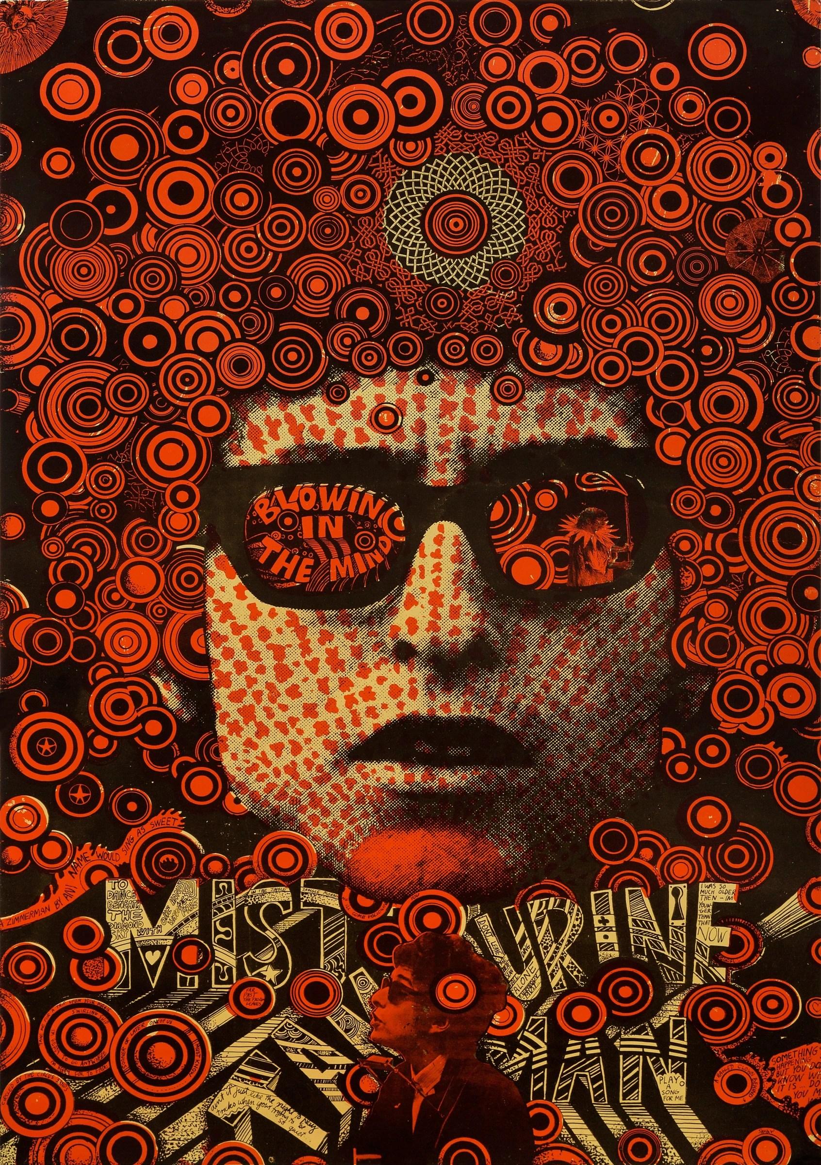 martin sharp bob dylan 1967 rock