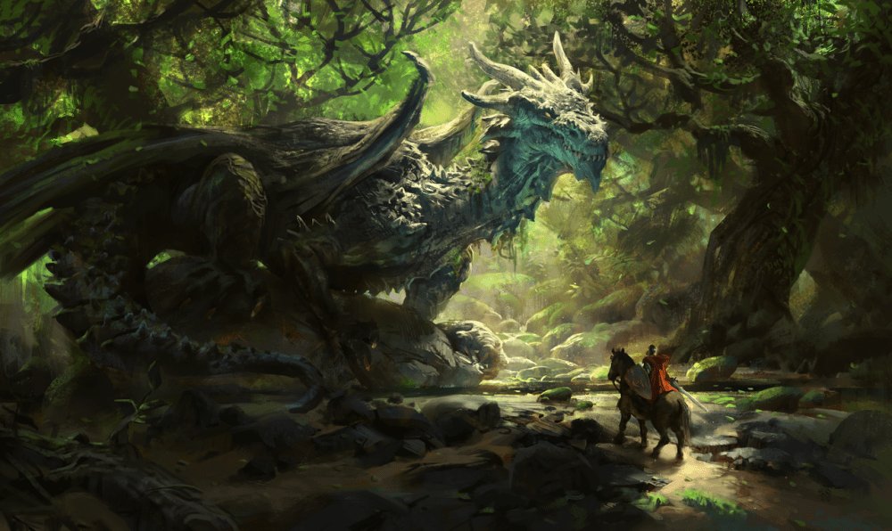 Joseph The Ancient Forest Dragon by Mike Azevedo