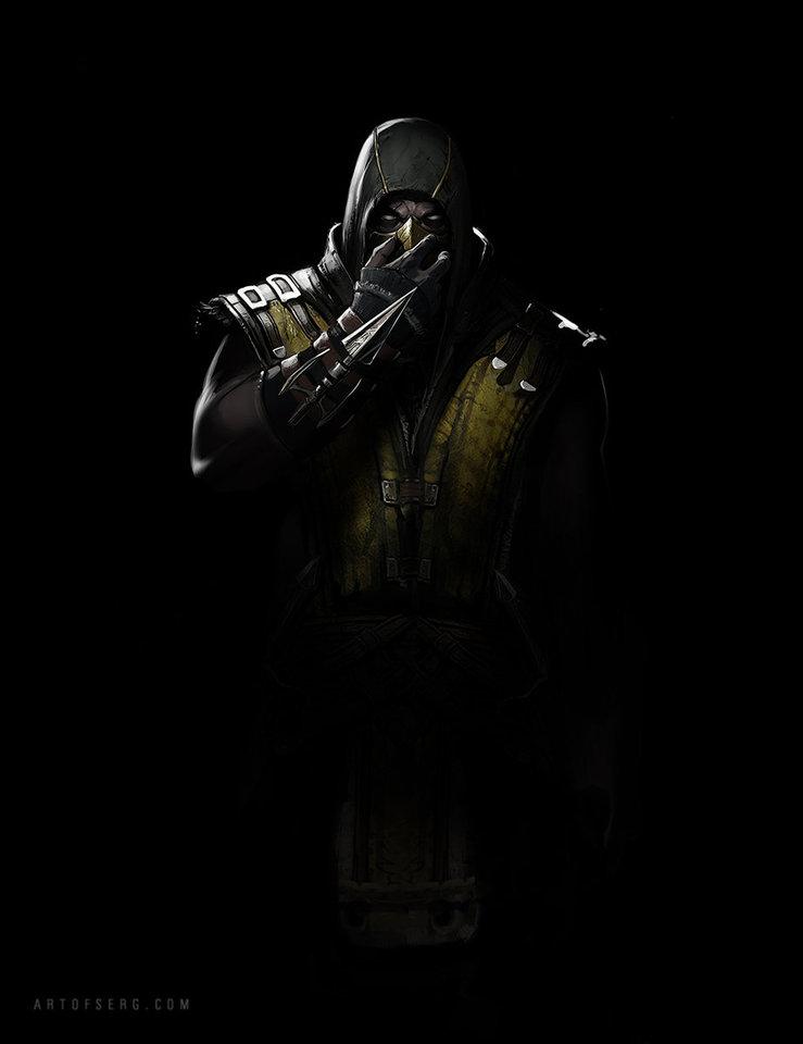mortal kombat x - scorpion by serg.soul
