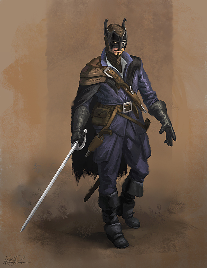 Musketeer Batman by Nathaniel Pengson