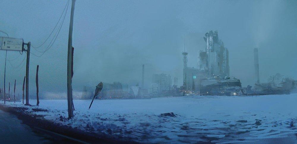 Snow City by Dmitry Vishnevsky