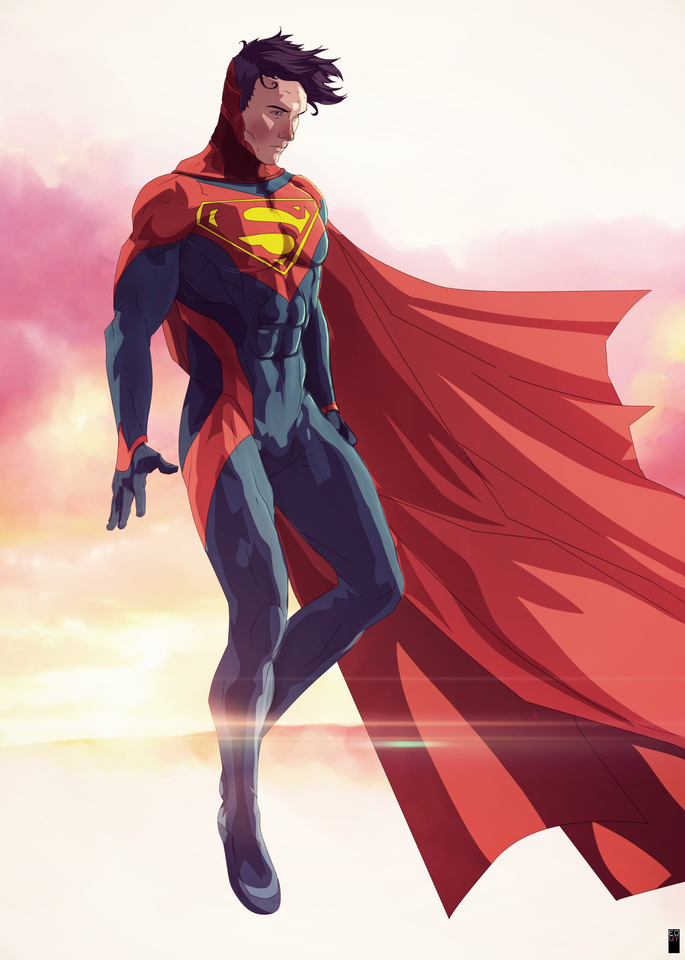 Superman Re Design by edgy Scrawl
