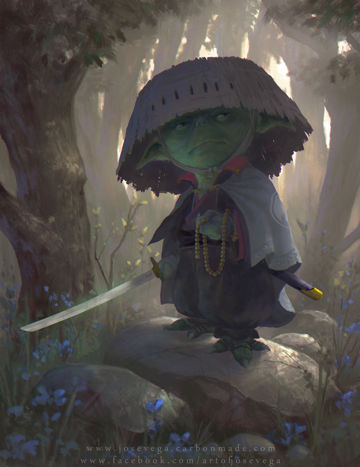Yoda Illustration by Jose Vega