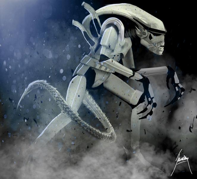 Alien Stormtrooper by trevor storey