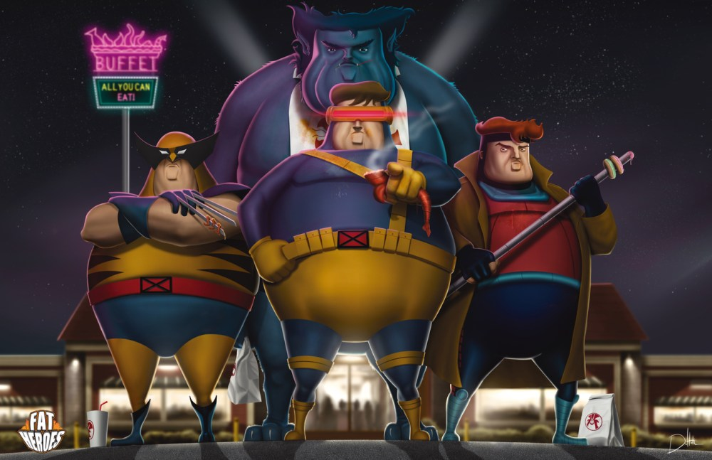 Fat Heroes Xmen by Carlos Dattoli