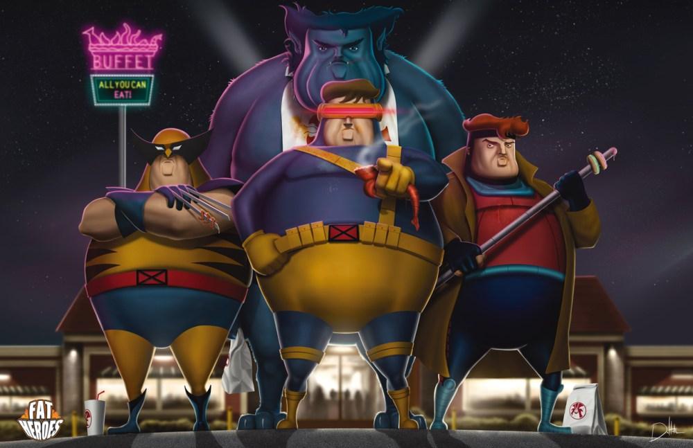 Fat Heroes Xmen by Carlos Dattoli