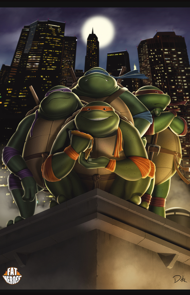 Fat Heroes Tmnt by Carlos Dattoli