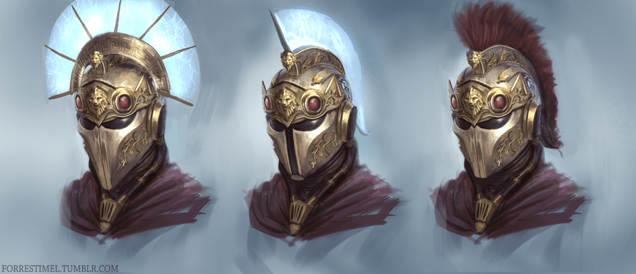 Greek Sci Fi Helmet by Forrest Imel