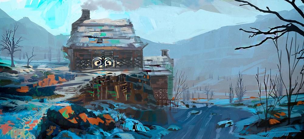 Sketch by Roman Roland Kuteynikov