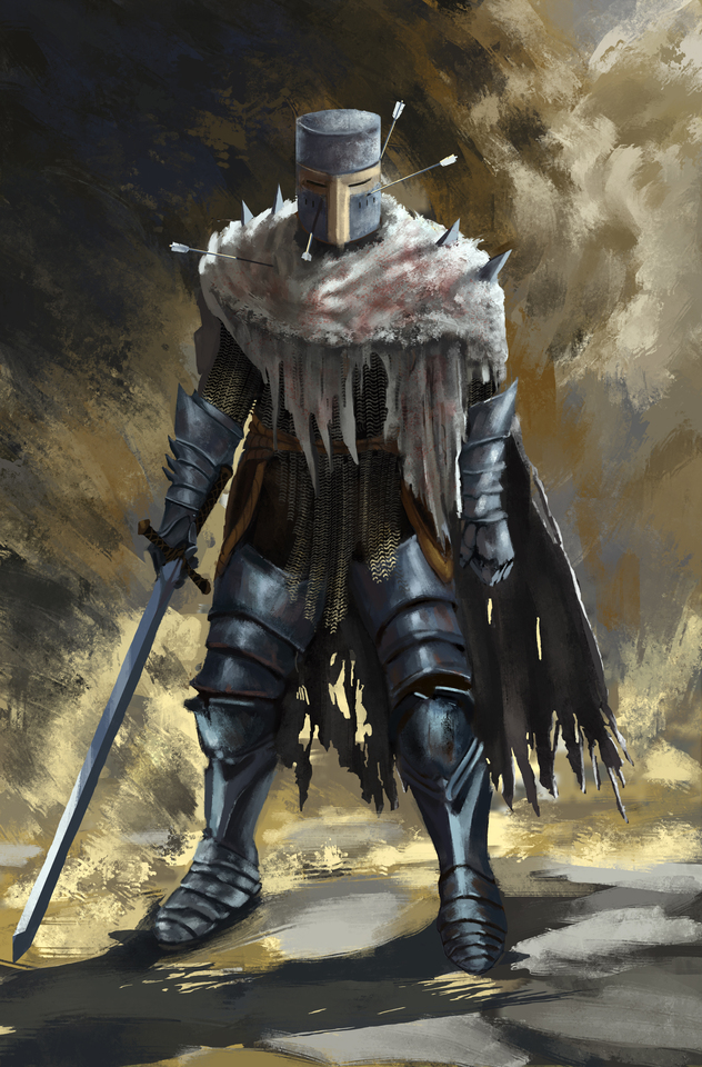 Heide Knight dark souls fan art by protagonist