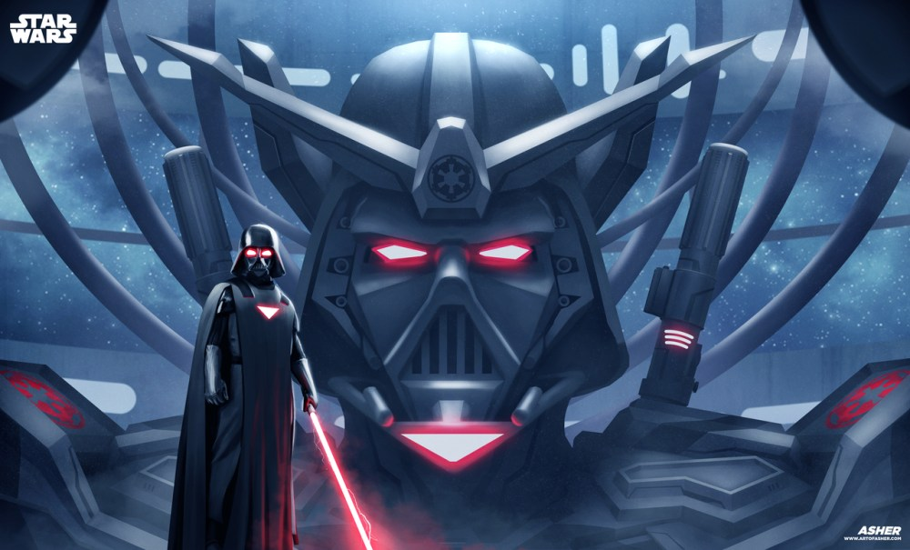 Gundam Vader by Asher Ben Alpay