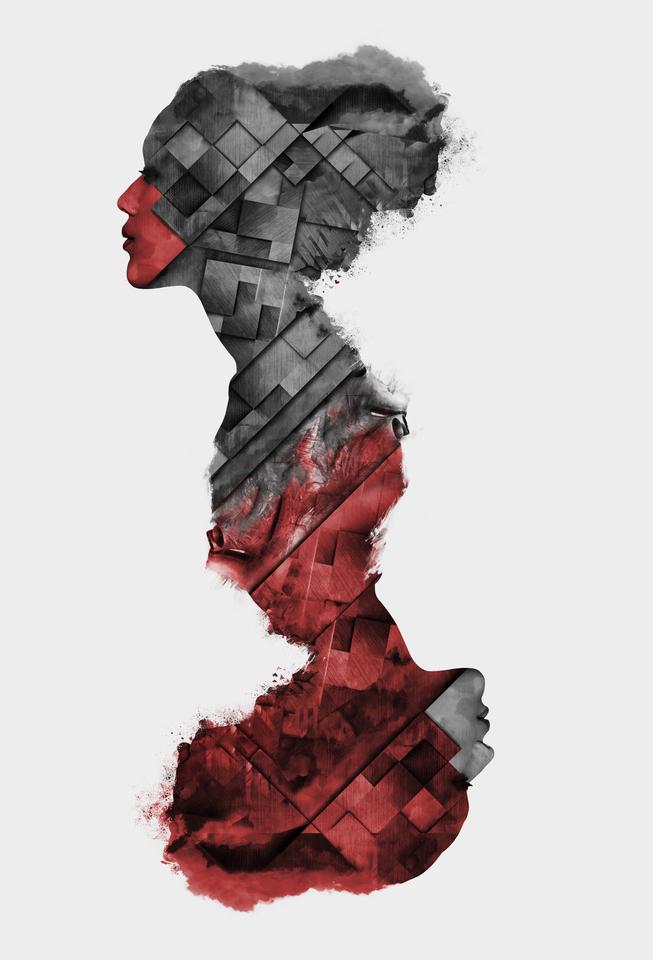 Queen Of Hearts Scomposition by Domenico Sellaro