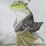 Samurai Frog Art Lovers Australia