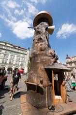 František Skála otevírá Prastánek na Malostranském náměstí