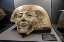 Výstava Tutanchamon RealExperience, Národní muzeum, Hlavová část sarkofágu