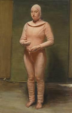 Michaël-Borremans,-The-Bird,-2019,-oil-on-canvas,-300-x-190-cm,-Courtesy-Zeno-X-Gallery,-Antwerp;-photo-Lieven-Herreman
