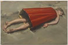 Michaël-Borremans-The-Devils-Dress-III-2011-oil-on-canvas-40-x-60-cm-Private-collection-Belgium-photo-Peter-Cox-Courtesy-Zeno-X-Gallery-Antwerp
