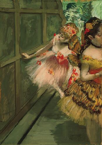 Táncosok a színfalak mögött, 1878 k., The Norton Simon Museum of Art, Pasadena