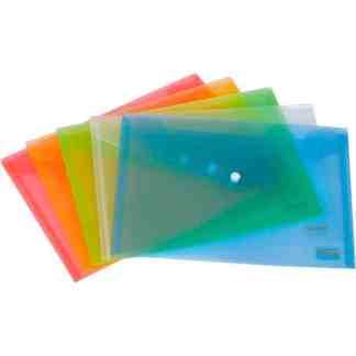 1402-22 Папка на кнопке А4 (21х29,7 см) синяя пластик Axent