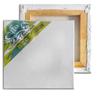 Подрамник с холстом упакованный белый хлопок (Италия) подвернутый 20х30 Планка 40х17 «Трек» Украина