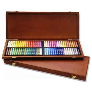 Набор масляной пастели 72 цвета в деревянном пенале MOP-72W Mungyo