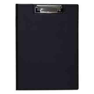 Папка планшет с прижимом ПВХ черная А4 (21х29,7 см) Economix