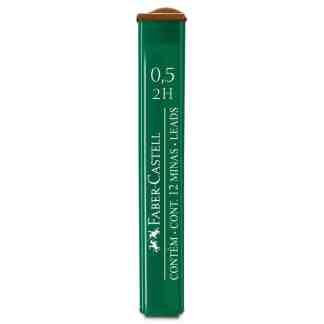 Грифель 0,5 мм 2H 12 штук в пенале Faber-Castell 9125