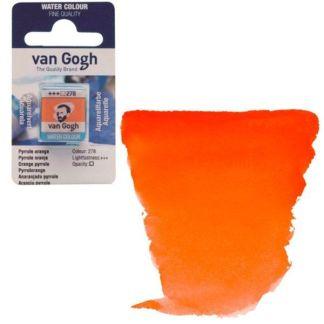 Акварельная краска Van Gogh 278 Пирольный оранжевый 2,5 мл кювета Royal Talens