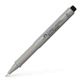 Линер черный Ecco pigment 0,2 мм Faber-Castell