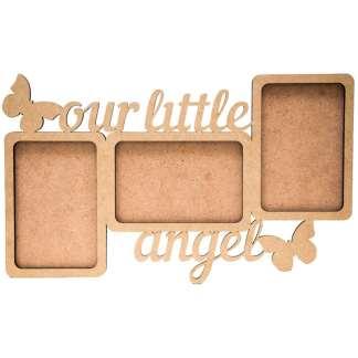 Заготовка деревянная рамка «Надпись Our little angel», 38х22х0.6 см МДФ