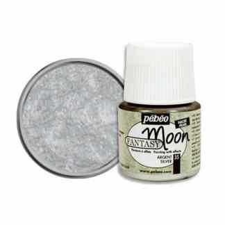 Краска лаковая Fantasy Moon 035 Серебро 45 мл Pebeo