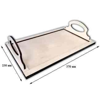 Заготовка деревянная «Поднос» прямоугольный 370х230х86 мм фанера 17.079 Украина